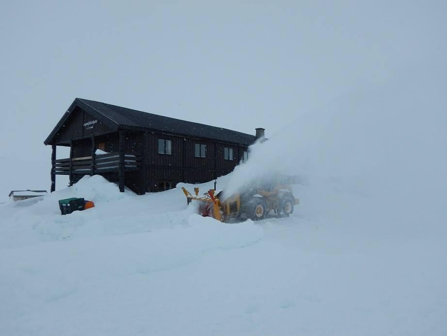 Práce v zimě v Norsku